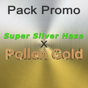 Pack promo Super Silver Haze x Pollen Gold